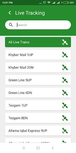 Pak Rail Live - Tracking app of Pakistan Railways  Screenshots 3