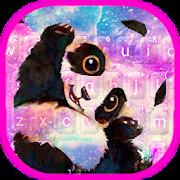 Galaxy Cute Panda Keyboard Theme