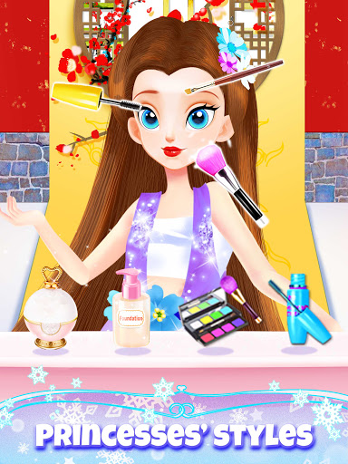 Girl Games: Princess Hair Salon Makeup Dress Up  screenshots 12