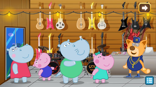 Kids music party: Hippo Super star screenshots 2