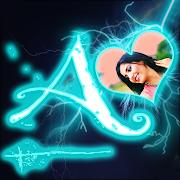 Lightning Text Photo Frame