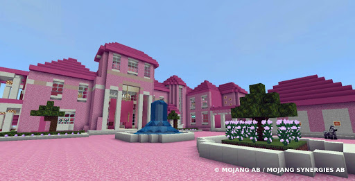 Pink house with furniture. Craft maps and mods 1.0.1 Screenshots 3