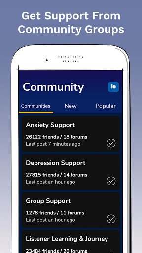 7 Cups: Online Therapy for Mental Health & Anxiety  screenshots 3