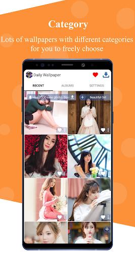 daily wallpaper - backgrounds hd - beautiful girl screenshot 2