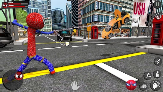 Stickman Rope Hero – Amazing Spider Crime City Game Hack Android and iOS 3