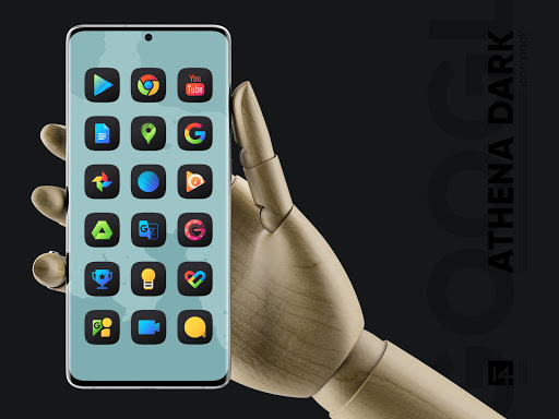 athena dark icon pack - dark squircle icons screenshot 3