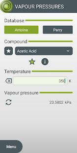 Vapour Pressures