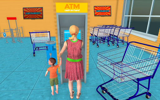 Supermarket Grocery Shopping Mall Family Game 1.8 screenshots 2