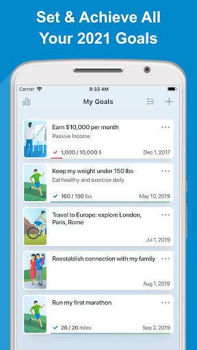 Goal Setting Tracker- Daily GTD Life Planner  screenshots 1