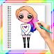 少女を段階的に描く方法