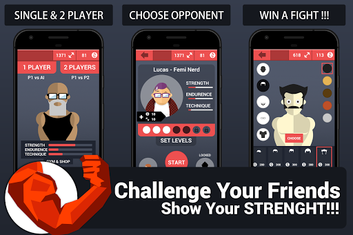 arm wrestling vs 2 player screenshot 3