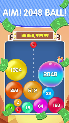 Lucky 2048 - Merge Ball and Win Free Reward 1.1 Screenshots 1