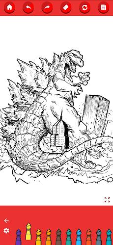 Coloring Godzilla : King of the Monstersのおすすめ画像3
