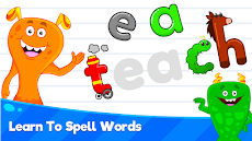 Kids Spelling & Reading Games - Learn To Readのおすすめ画像2