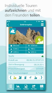 3D-Karte mit Ski, Wander & Bike Touren - GPS Navi Screenshot
