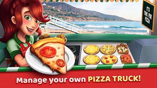 Télécharger Pizza Truck California - Fast Food Cooking Game APK MOD (Astuce) screenshots 1
