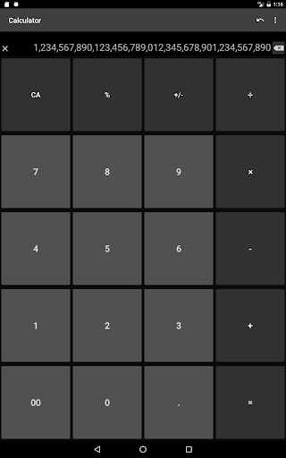 Calculator with many digit (Long number) 1.9.11 screenshots 8