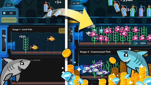 Idle Fish Aquarium 1.7.9 screenshots 1