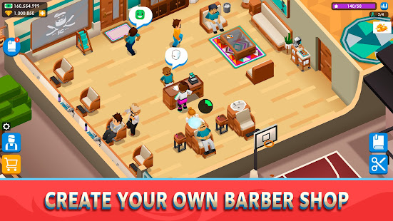 Idle Barber Shop Tycoon - Business Management Game 1.0.7 screenshots 1