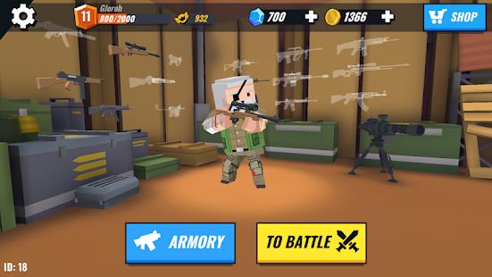 Battle Gun 3D - Pixel Block Fight Online PVP FPS