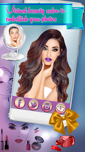 Hairstyle & Makeup Beauty Salon with Photo Effects  screenshots 1