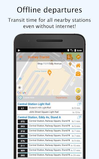 sydney transport: offline nsw departures and plans screenshot 1