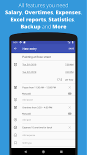 タイムシート-時間と給与のタイムカードを追跡する