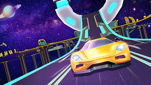 Mega Ramps - Galaxy Racer apkslow screenshots 3