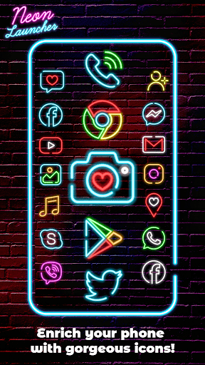 Neon Launcher App: Cool Launcher Themes modavailable screenshots 1