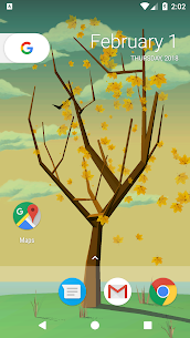 Tree With Falling Leaves Live Wallpaper – FREE 1.7.0 APK Mod Updated 2