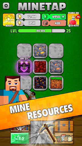 Minetap: Epic Clicker! Tap Crafting & mine heroes 1.5.5 screenshots 1
