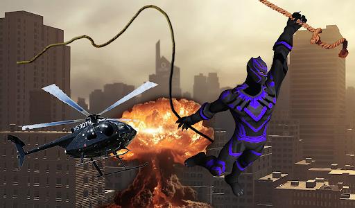 Super Black Hero Rope android2mod screenshots 5
