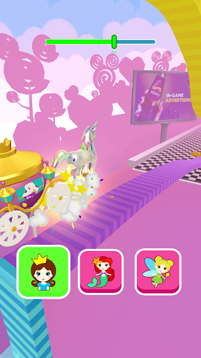 Shift Princess: fairy car games. Drive ahead race!  screenshots 4