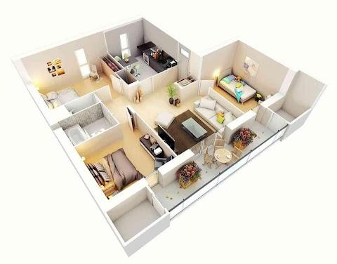 3Dホームデザインのアイデア|間取り図のおすすめ画像3