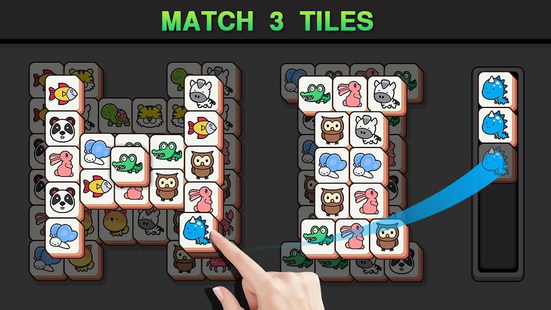 Match Animal-Free Tile master&Match Brain Game screenshot 1