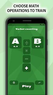 Math: arithmetic, verbal counting