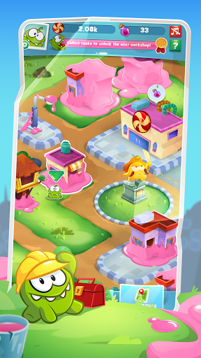 Om Nom Idle Candy Factory android2mod screenshots 1