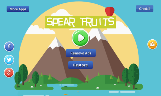 Spear Fruits-by throwing spear Screenshot