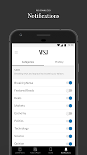 The Wall Street Journal: Business & Market News Screenshot