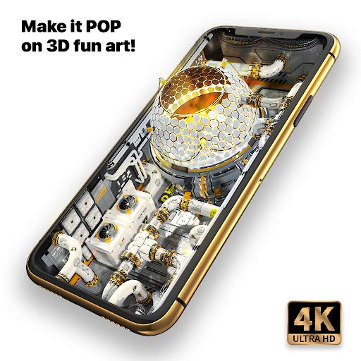 Wave Live Wallpapers HD & 3D Wallpaper Maker  screenshots 1