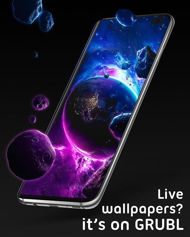 Live Wallpapers 4Κ/HD & Ringtones GRUBL™  poster 1