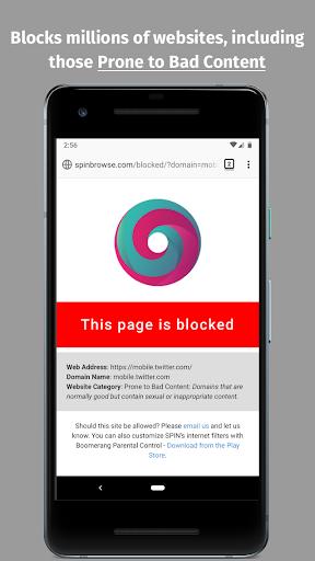 spin safe browser: best filtered website browser screenshot 3