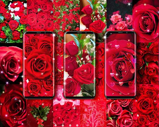 Red rose live wallpaper apktram screenshots 1