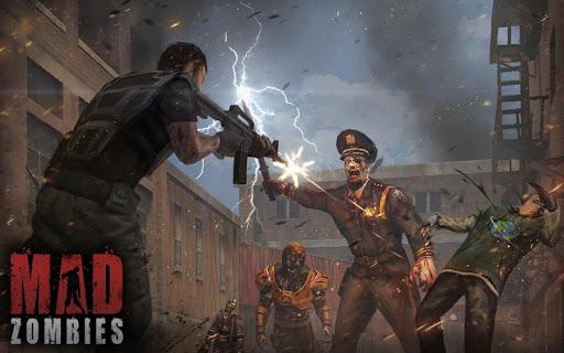 Télécharger MAD ZOMBIES : Jeux de Zombie APK MOD (Astuce) screenshots 2