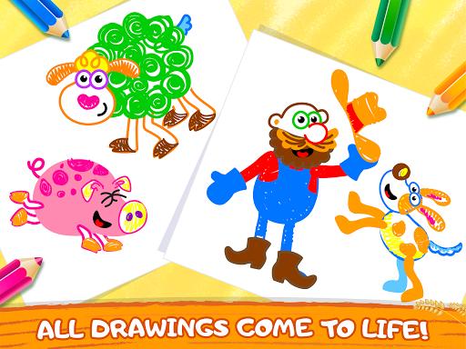Old Macdonald had a farm ud83dude9c Drawing games for kids  Screenshots 11