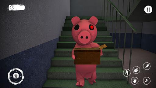 Piggy Family 3D: Scary Neighbor Obby House Escape screenshots 1