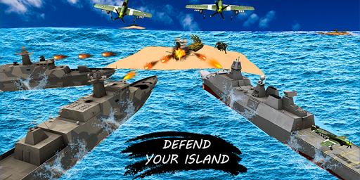 missile launcher battleship:island naval attack screenshot 1