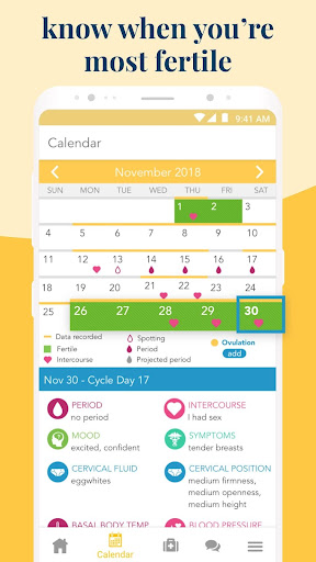 Ovia Fertility: Ovulation & Cycle Tracker 2.6.8 Screenshots 2