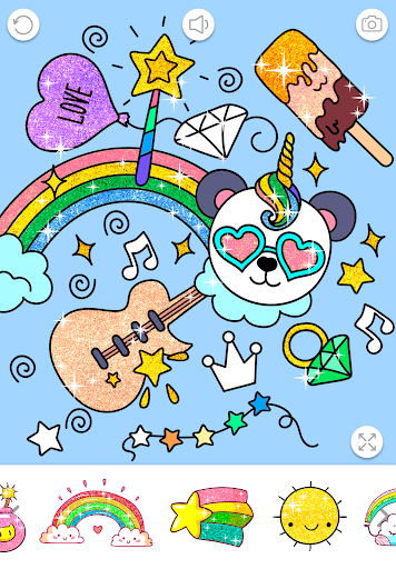 Kawaii Coloring Book Glitter modavailable screenshots 7