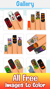 Halloween Nails Color by Number - Glitter + Polish